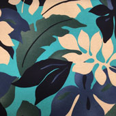Large Tropical Leaves Print Fabric